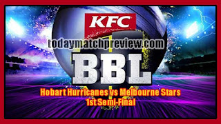 BBL T20 Semifinal Star vs Hobart Today Match Prediction Dream 11 Tips