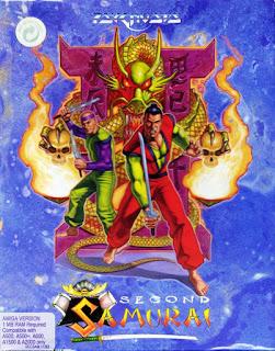Portada del disquete de Amiga: Second Samurai, 1993