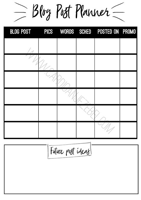 Freebie Friday || Blog Post Planner