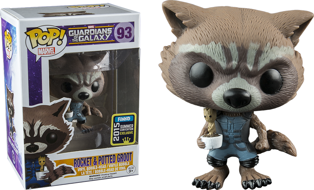 MagiaFigura PopRocket By Acero Y Potted Raccoonamp; Groot Funko y80vmnNwO