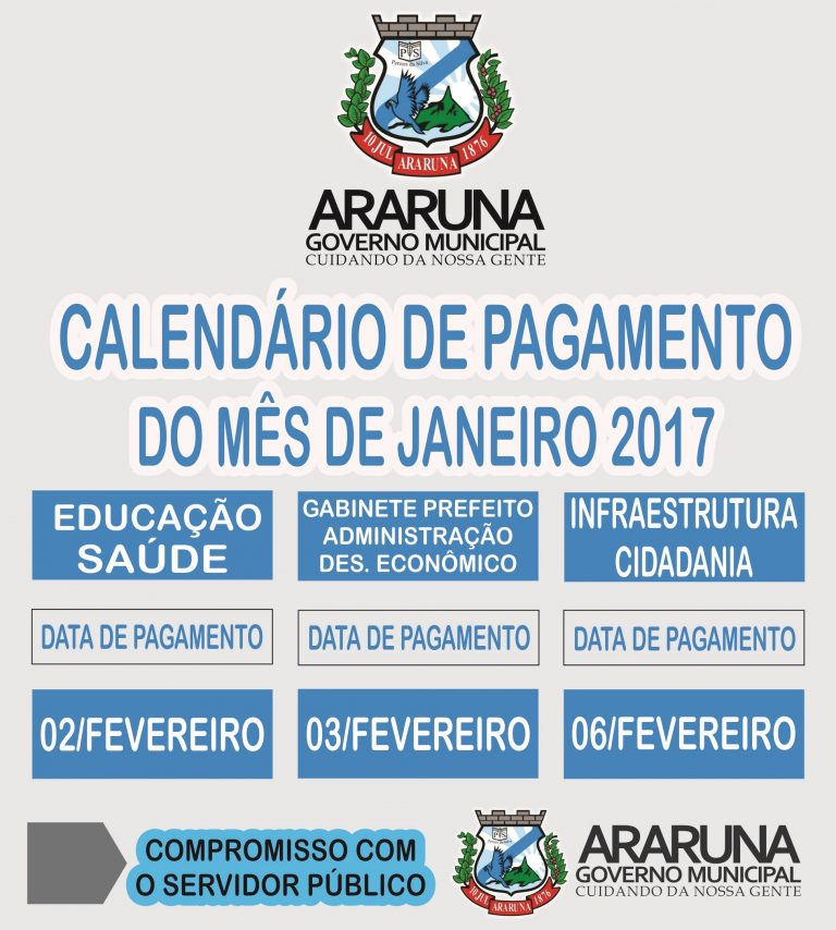 Resultado de imagem para prefeitura de araruna divulga calendário