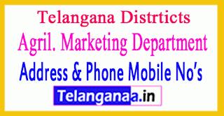 Telangana Distrtict Agril.Marketing Officer Mobile No