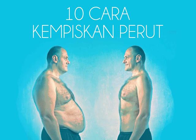 10 cara kempiskan perut dengan mudah