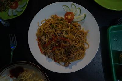 Spagetti Ayam Kung Pao ala De' Green