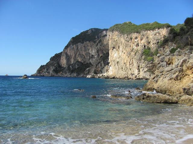 Paleokastritsa, Beach, Corfu
