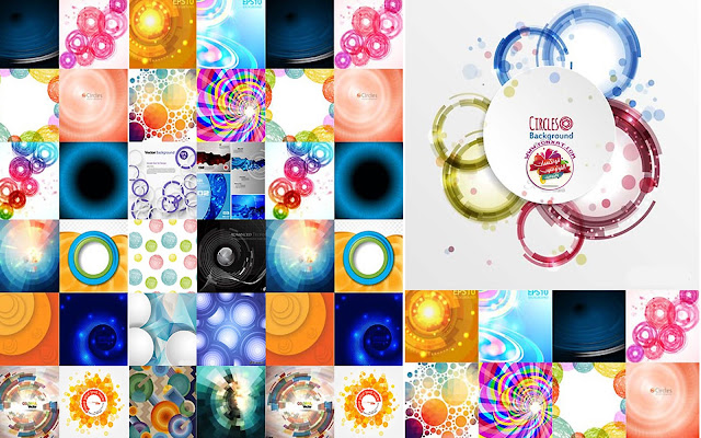 Download abstract background circular vector images
