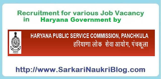 Naukri  Recruitment in Haryana  by Haryana PSC