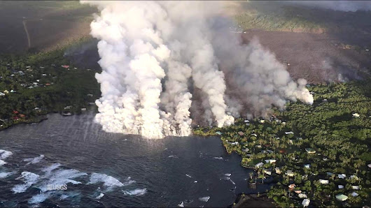Lava Evaporates Hawaii's Largest Lake in a Matter of Hours