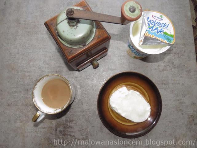 Chleb ze śmietaną i cukrem