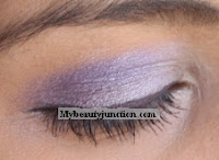 EOTD: Silvery lilac and lavender smoky eye makeup look