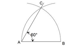 Menggambarkan sudut lancip dengan besar 60°