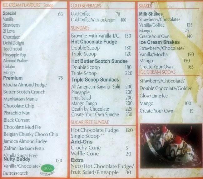 Palam Guide Nirula S Ice Cream Palam Dessert Parlor