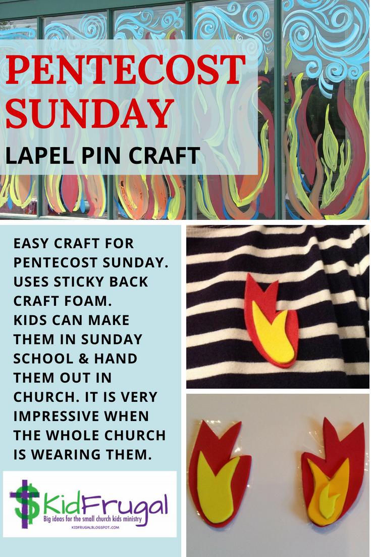Kidfrugal Pentecost Diy Pins