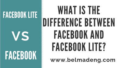 What is the difference between Facebook and Facebook Lite?