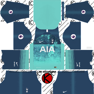 Tottenham Hotspur 2018/19 Kit - Dream League Soccer Kits - Kuchalana