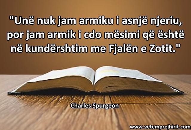 Fjala e Zotit, perendise, spurgeon shqip, sperxhen,