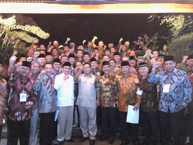 Lebih dari 60 Jenderal (Purn) Sepakat Dukung Prabowo di 2019