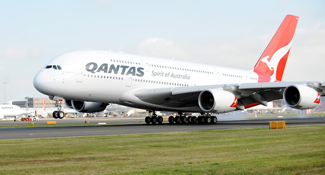 Qantas A380 First Time Landing