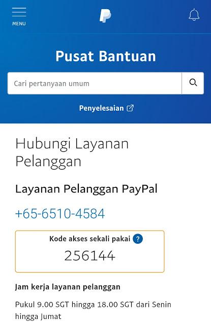 Hubungi Paypal
