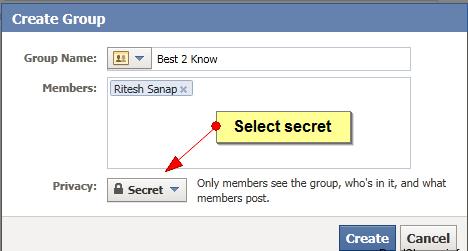 Secret Group On Facebook