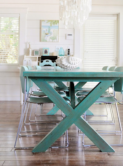 Wonen in stijl 39 beach house 39 wonen maken leven - Blauwe turquoise decoratie ...