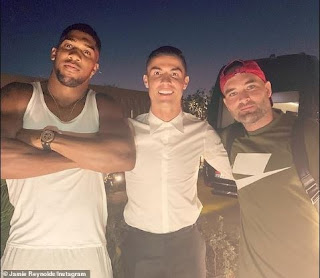 Anthony Joshua And Christiano Rinaldo Spotted In Dubai