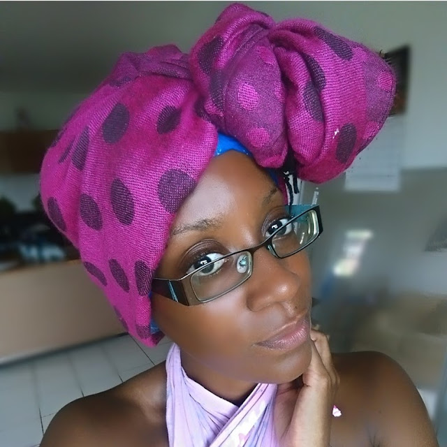 Use a scarf to protect your hair from the summer sun and multitask while deep conditioning, and looking tres chic