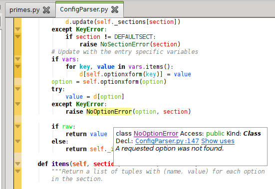 KDevelop python language support plugin pre-release – Linux, Games