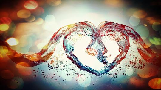 download besplatne pozadine za desktop 1920x1080 HDTV 1080p srce voda čestitke Valentinovo dan zaljubljenih Happy Valentines Day