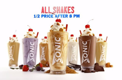 Sonic is again offering their entire shake selection for 50 off the