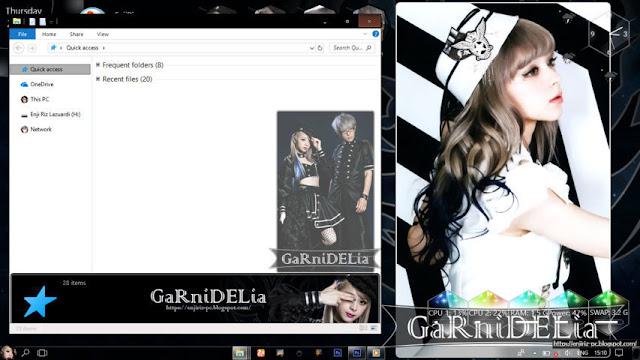 Windows 10 Ver. 1803 Theme GARNiDELiA by Enji Riz