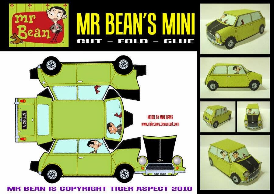 Mr Beanu0027s Mini Many Minis Pinterest Minis, Papercraft and - car ad template