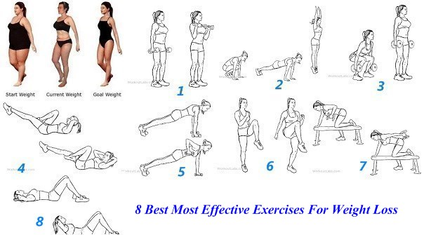 8 Best Most Effective Exercises For Weight Loss
