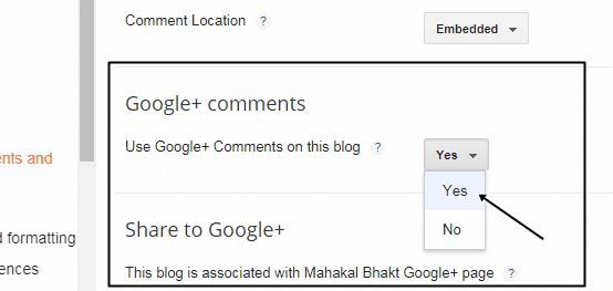how to enable google plus comment on blogger blog, blogspot blog par google plus comment kaise add kare, blogspot tutorial in hindi