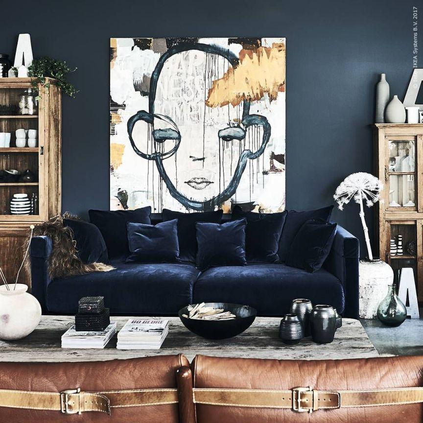 Rinnovare i mobili la collezione stockholm di ikea vita for Divano velluto blu