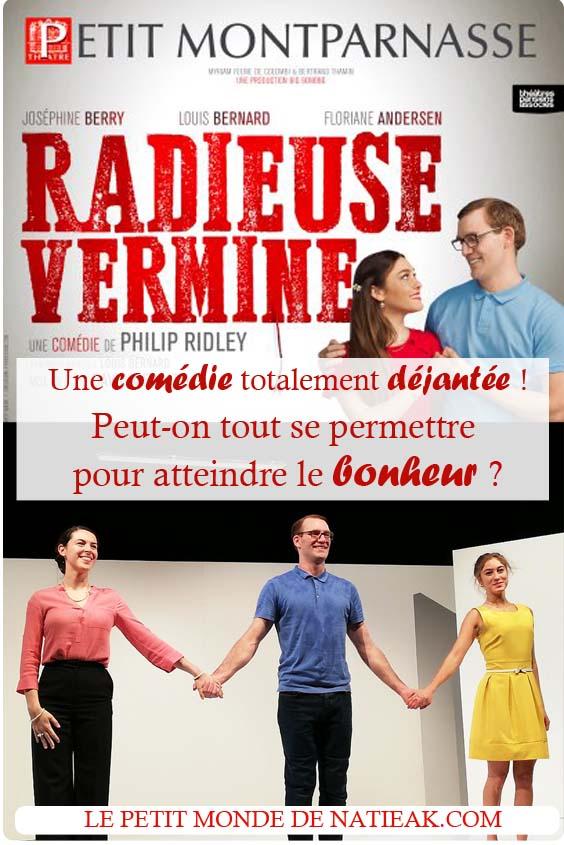 avis sur la pièce Radieuse vermine Petit Montparnasse
