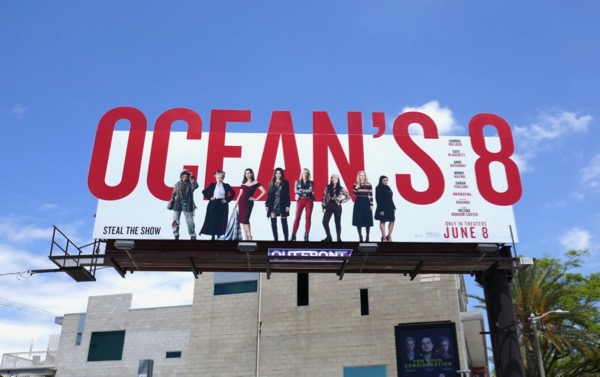 Oceans 8 movie cut-out billboard