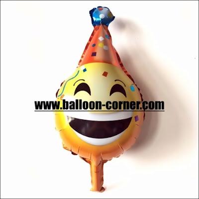 Balon Foil Emoji Badut Mini