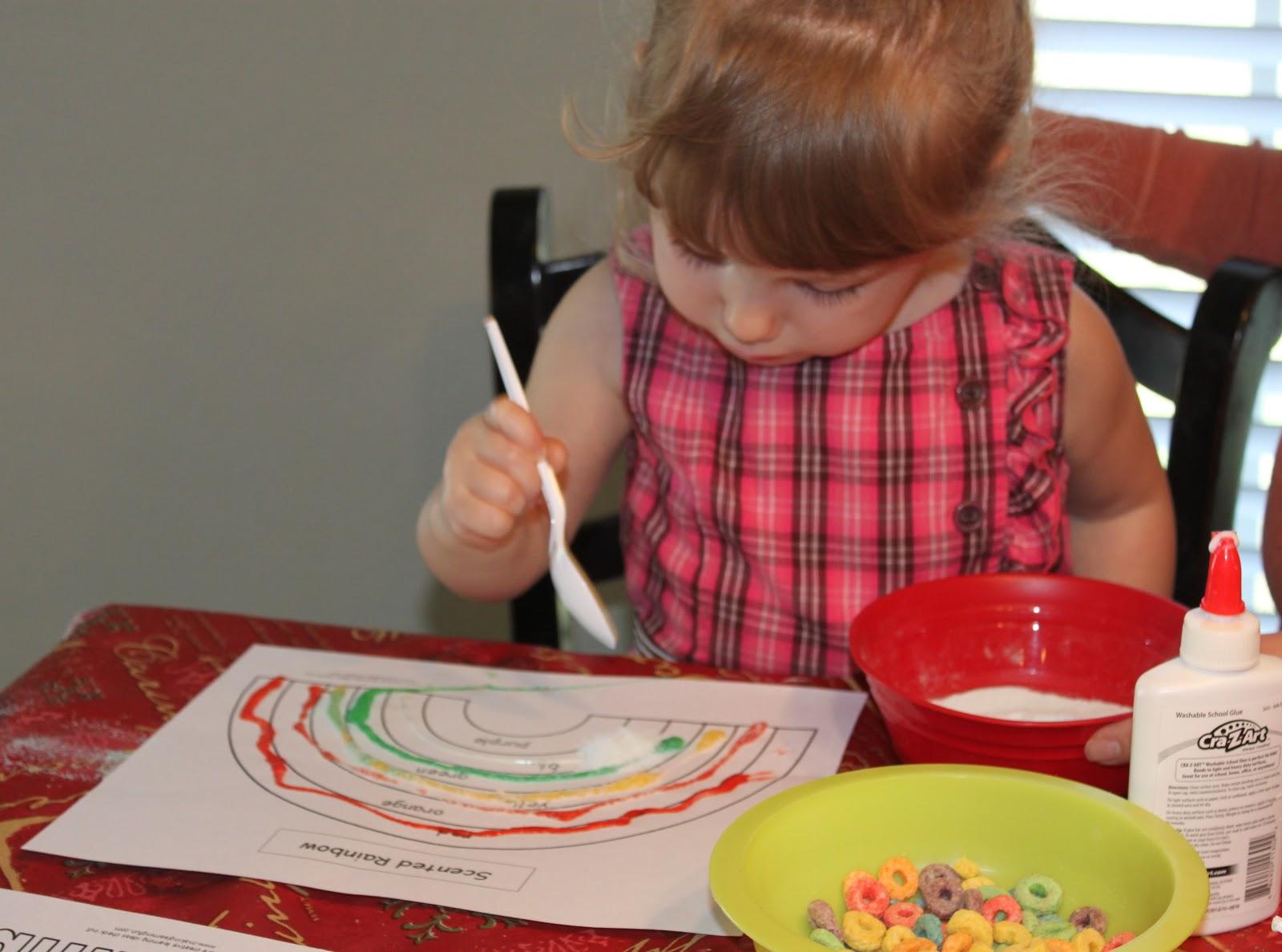 Mama Clucks Rainbow Crafts Fruit Loops Amp Jell O