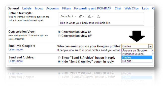 How to Disable Gmail's New Feature that Allow Google+ Users Email You