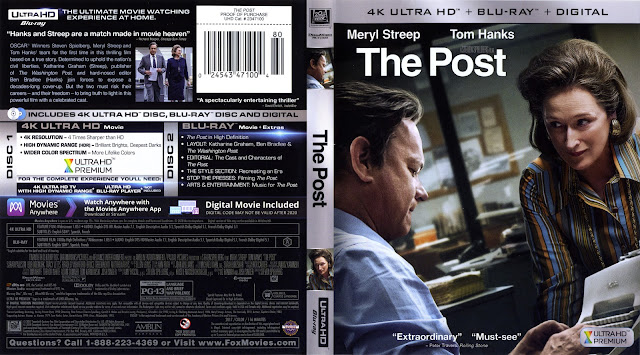 The Post 4K Bluray Cover