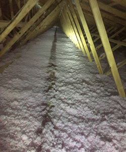 Blown In Fiberglass Installation - Delmarva Insulation