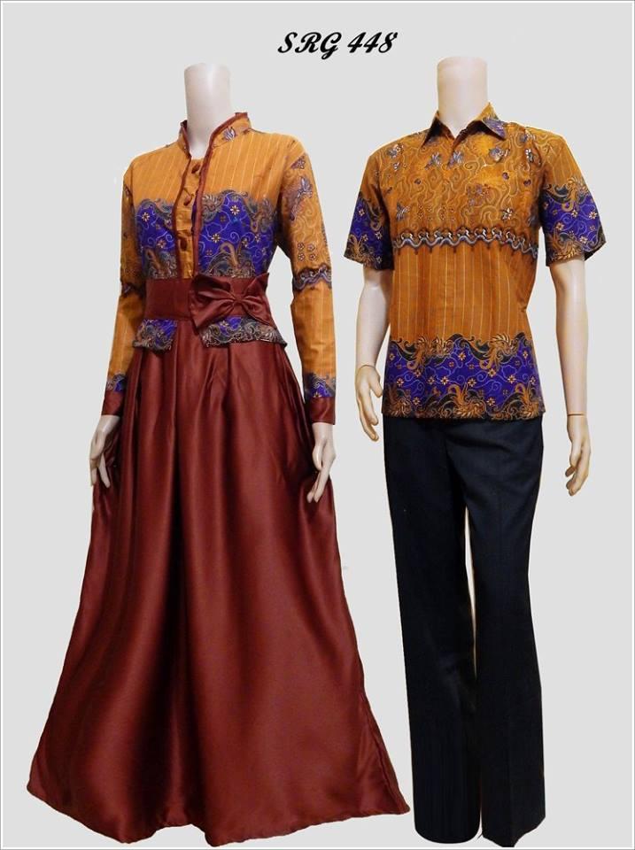 10 Model Gamis Batik Pasangan Untuk Pesta Pernikahan  Gaya Modern