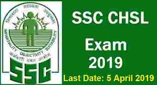 SSC CHSL Examination 2019