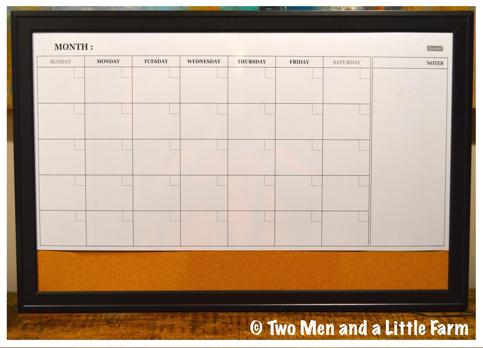 Dry Erase Weekly Calendar : Two men and a little farm dry erase calendar board find