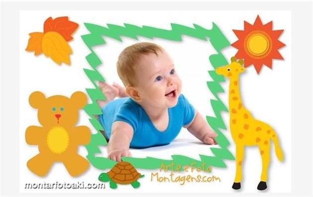 Montagem de fotos para crianças segundo modelo