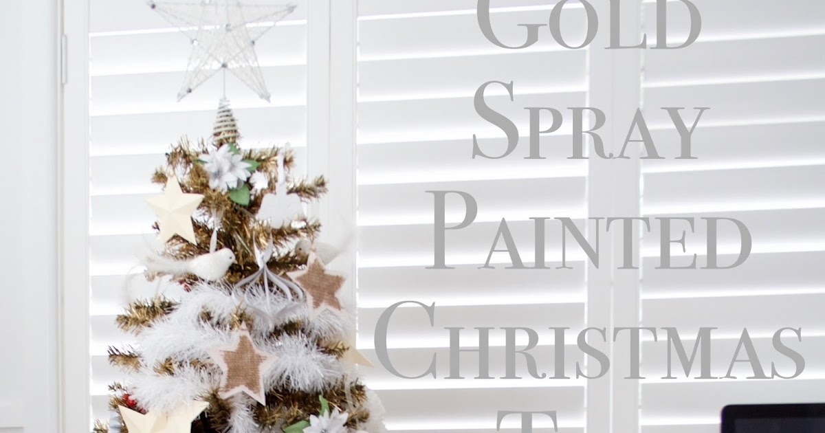 Gold Spray Painted Christmas Tree
