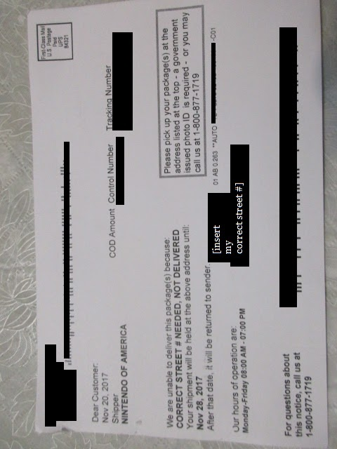 a heavily redacted photo of the ups postcard