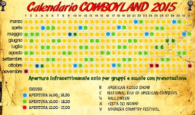 Calendario Cowboyland