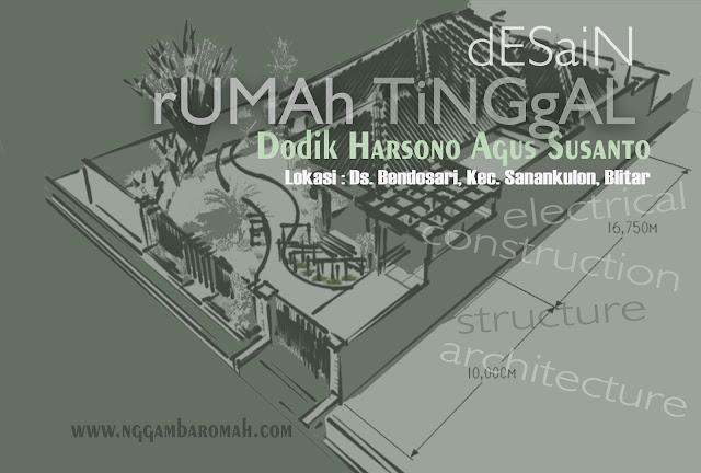 Desain Rumah Bapak Dodik di Blitar